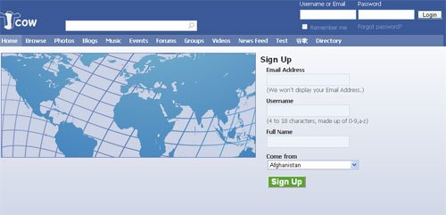 JCow ile ücretsiz sosyal network kurunuz