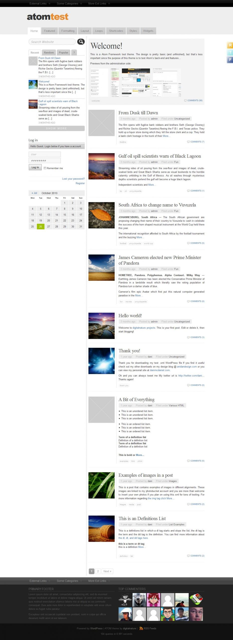 Çok Harika Bir Wordpress Teması: Atom