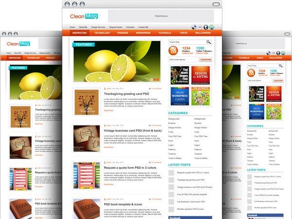 Ücretsiz Wordpress Blog PSD Teması