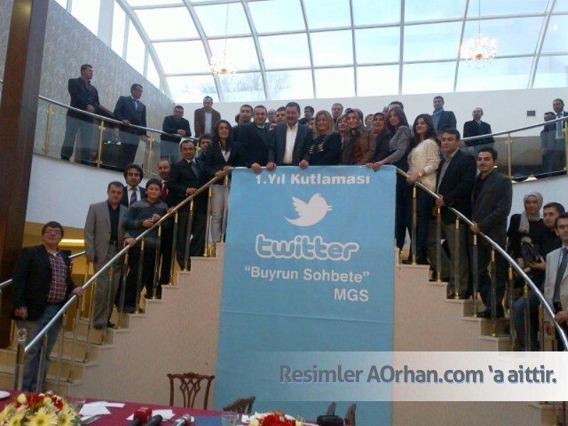 Melih Gökçek'in Twitter 1. yıl Kutlaması