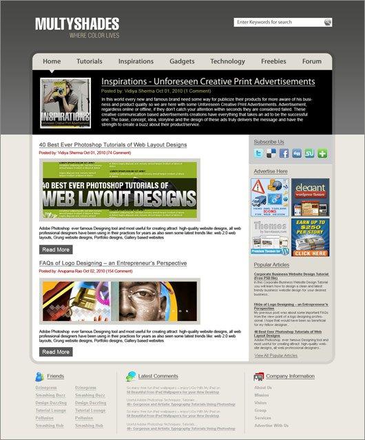 Professional Blog Layout Design Using Photoshop