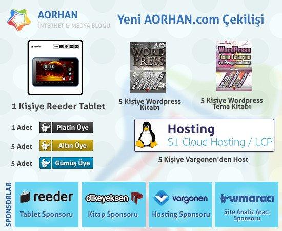 cekilis AORHAN.com Çekilişi