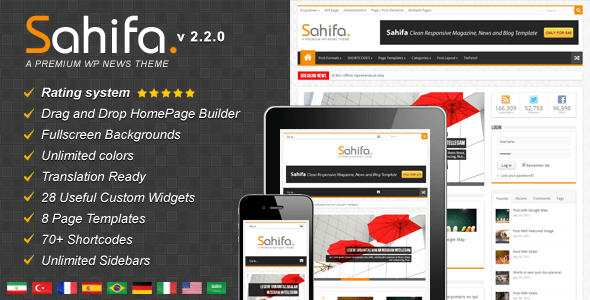 Sahifa - Responsive WordPress News, Magazine, Blog Tema