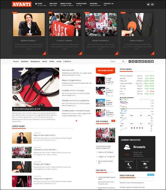 75 Adet Magazine Portal WordPress Teması