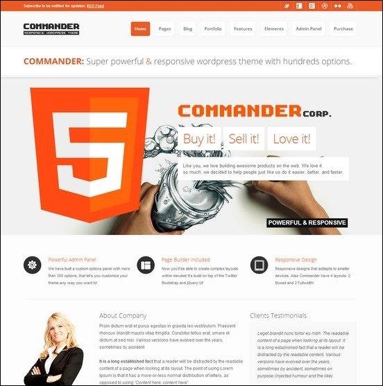 WordPress Şirket-Kurumsal Temalar
