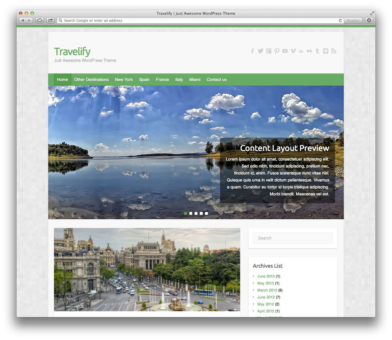 Travelify WordPress Teması