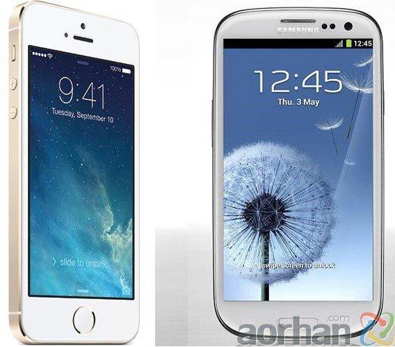 İPhone 5S ve Samsung Galaxy S3 Karşılaştırması