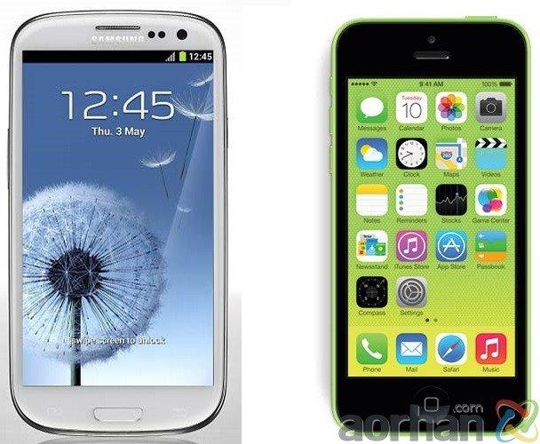 İPhone 5C ve Samsung Galaxy S3 Karşılaştırması