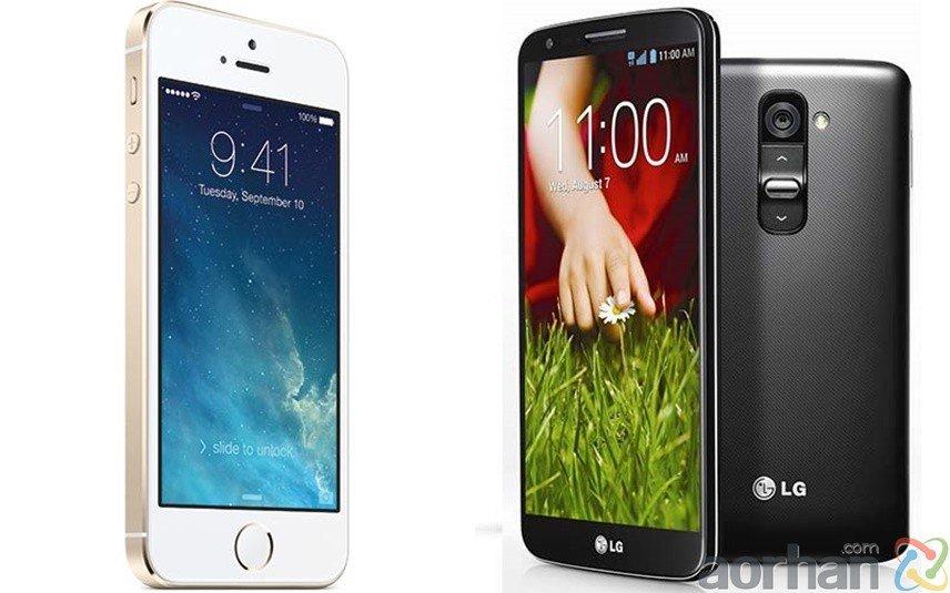 İPhone 5S ve LG G2 Karşılaştırması