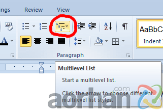 ms-word-multi-level-list