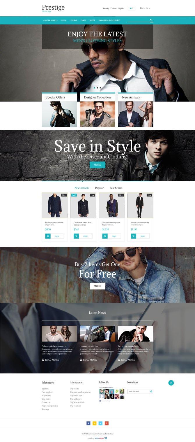Ücretsiz PrestaShop E-ticaret Teması 2015