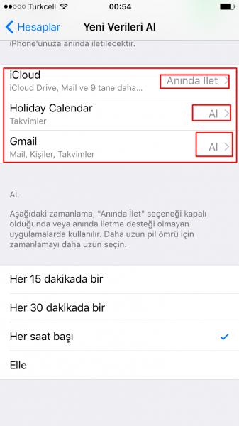 iPhone'da Mail Bildirimlerini Anında Almak