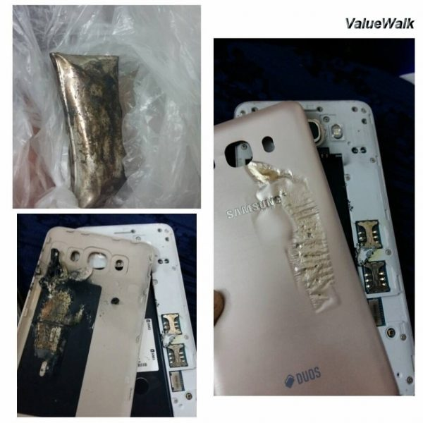 Samsung Galaxy J7'de Patladı!
