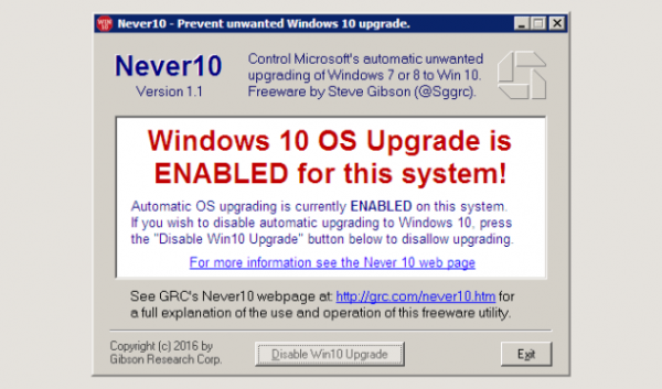 Windows 10 Otomatik Yükseltmeye Kapatma