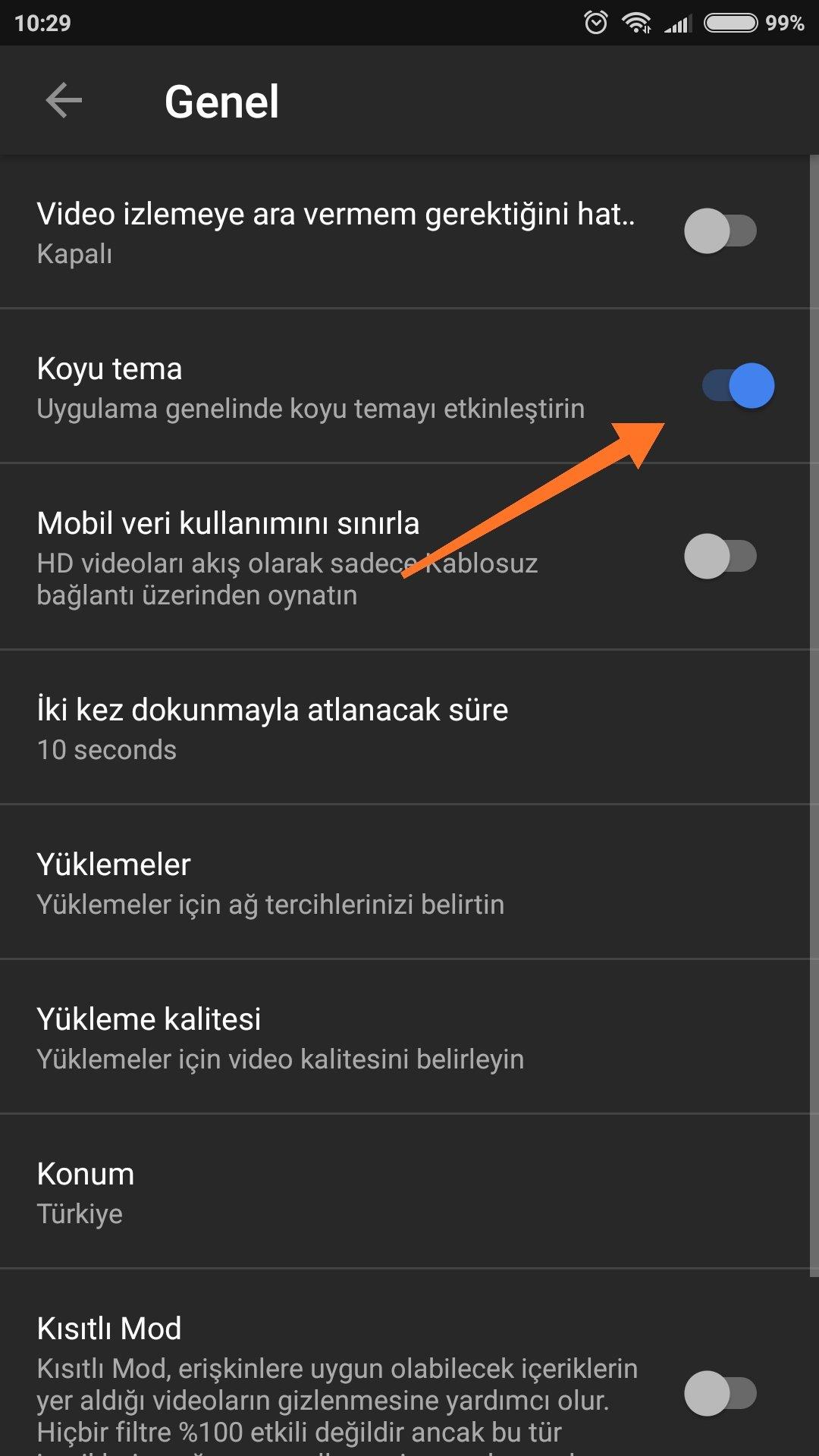 Android Youtube Koyu Tema Nasıl Aktif Edilir?