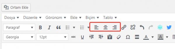 Wordpress Metin Editörüne İki Yana Yaslama Kodu Eklemek (Justify)