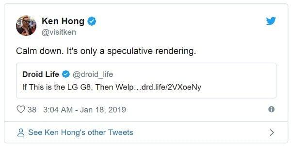Sızdırılan LG G8 Görselleri Gerçek Değil