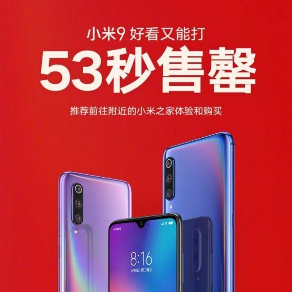 Xiaomi Mi9 53 Saniye İçinde Tükendi