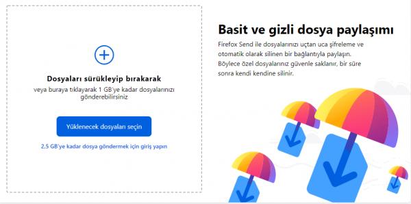 Firefox Send Nedir?