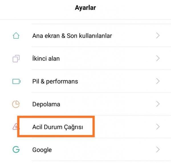 Xiaomi Telefonlarda Acil Durum Çağrısı Nedir?