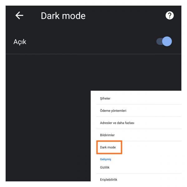 Android İçin Chrome Karanlık Mod Nasıl Açılır?