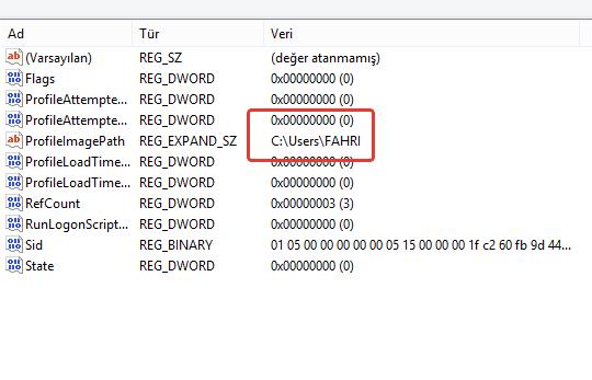 Windows Kullanıcı Klasör İsmi Nasıl Değiştirilir?