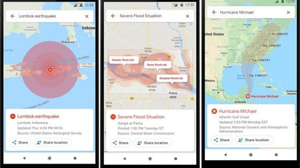 google maps doğal afet haber sistemi