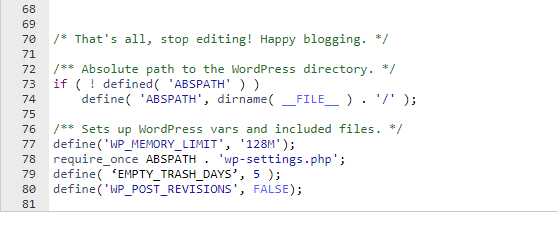 wordpress memory limit