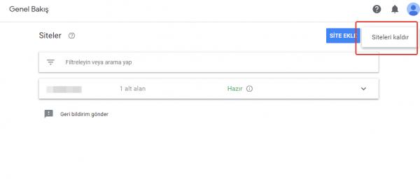 google adsense site kaldırma
