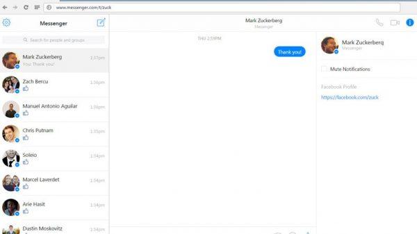 Bilgisayarda Facebook Messenger Kullanmak