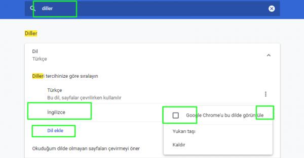 Chrome'da Dil Nasıl Değiştirilir?