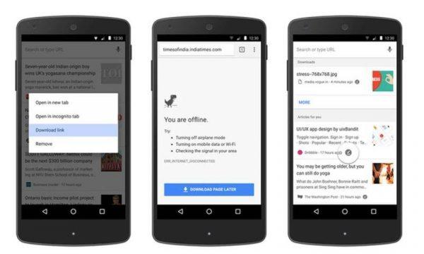 Android İçin Chrome Çevrimiçiyken İndir Nedir?