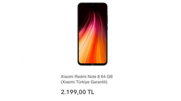 Resmi Note 8 Türkiye Fiyatı ve Özellikleri