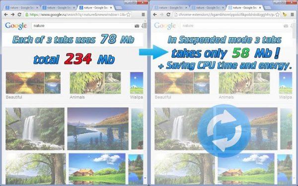 Chrome Ram Kullanımını Azalt Tab Suspender
