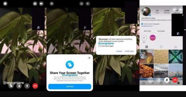 Facebook Messenger Ekran Paylaşma Özelliği Nasıl Çalışacak?