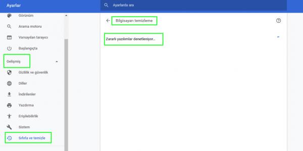 Chrome'dan Kötü Amaçlı Yazılımları Temizleme
