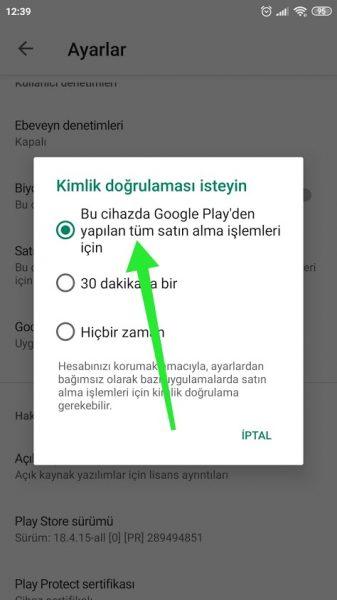 Google Play Sore'da Parmak İzi Nasıl Kullanılır?