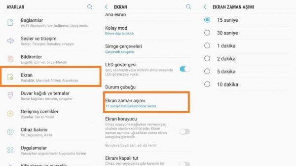 Huawei Marka Telefonlarda Ekran Zaman Aşımı Ayarları