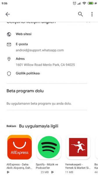 Android'de Whatsapp Karanlık Mod İçin Beta Programına Katılma