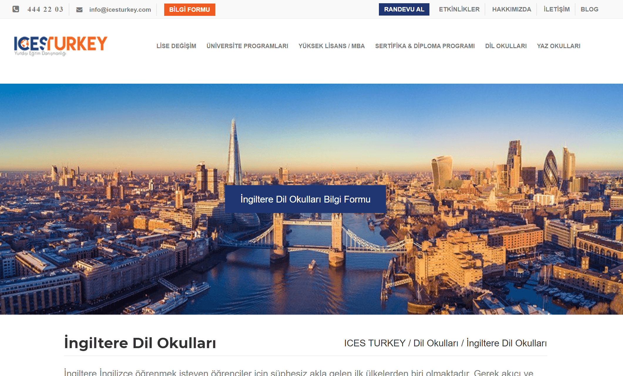 İngiltere'de İngilizce Öğrenmeye Ne Dersiniz?