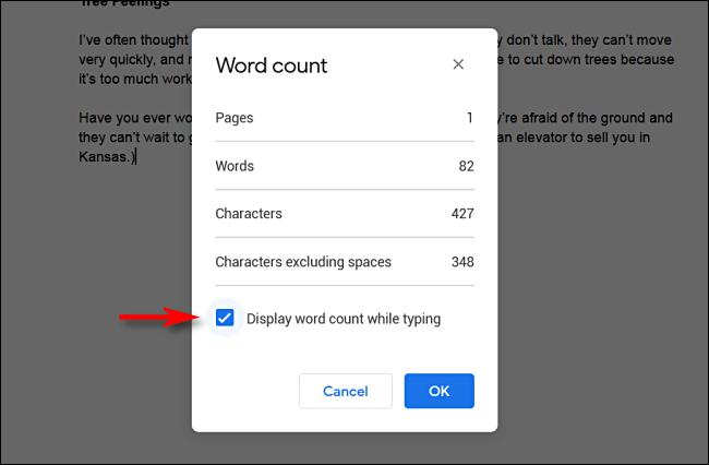 Google Drive'da Yazarken Kelime Sayacını Aktif Hale Getirme
