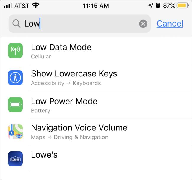 iPhone'da Ayarlar İçinde Hızlı Arama Nasıl Yapılır?
